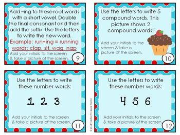 20 iPad Task cards for 1st grade using a free app ~ ABC Magnetic Board