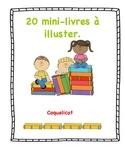 20 mini-livres à illustrer