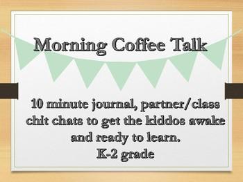 20 morning coffee talk journal topics partner chit chat grade 3-6