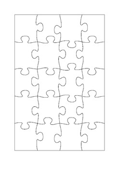 20 piece jigsaw template