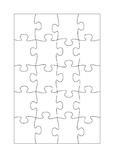 20 piece jigsaw template
