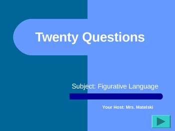 20 questions for Figurative Language