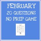 20 questions game - February Theme