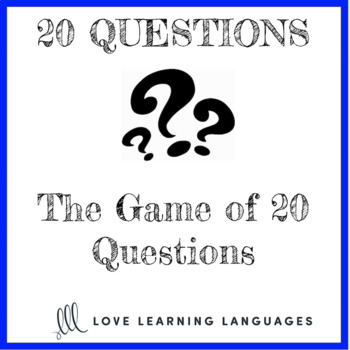 20 questions games - Small group or whole class no prep activities