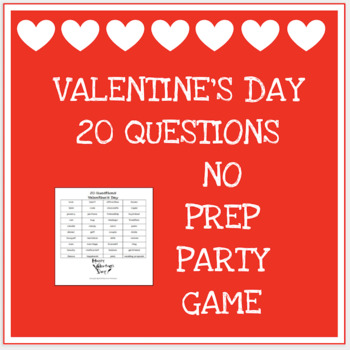 20 questions game - Valentine's Day