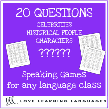 20 questions games - Celebrities, Historical Figures, Characters