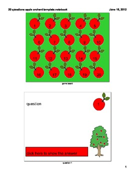 20 questions template- apples
