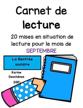 20 situations de lecture-Septembre