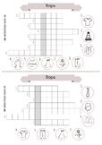 20 spanish crosswords about fruits, vegetables, school, fu