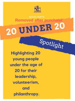 20 under 20 Poster