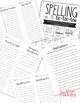 20 words spelling list - Editable Pretest, Test Sheets & Activities 1-3 Grade