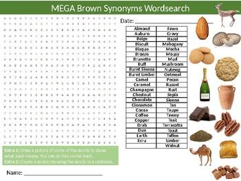 20 x  Synonyms Wordsearch Puzzle Sheet Keywords Vocabulary English Language