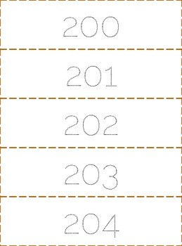 200- 300 Number tracing Strips, handwriting