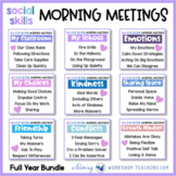 200 Morning Meeting Social Skills Routines Distance Learning Print + Paperless