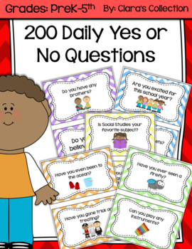200 Daily Yes or No Questions (Question of The Day)