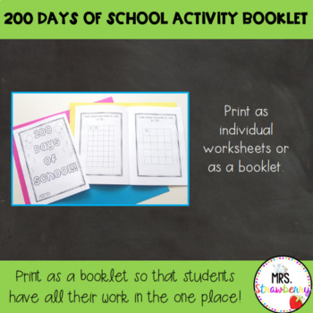 200 Days of School Activity Booklet