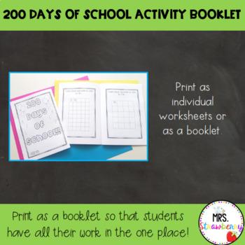 200 Days of School Activity Booklet