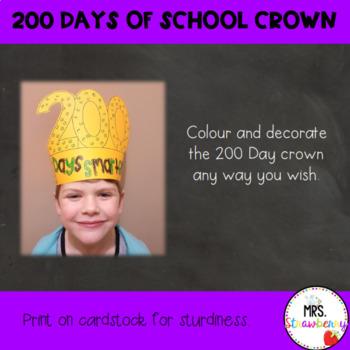 200 Days of School Crown
