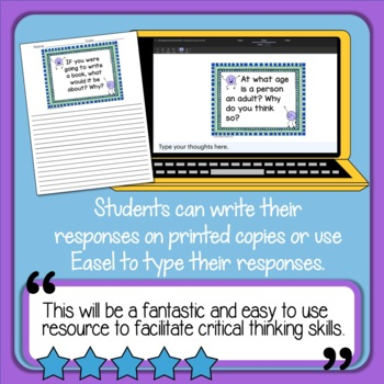 200 Engaging Writing Prompts Slides - for discussion, journals, and more!