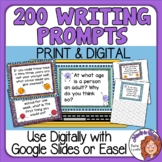 200 Engaging Writing Prompts Slides - for discussion, jour