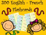 200 Bilingual English French Flashcards (Usage and Vocabulary)