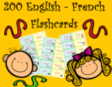 200 English French Flashcards to Study and Revise Vocabula