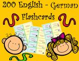 200 English German Flashcards to Study or Revise Vocabular