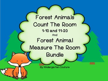 Forest Animal Count the Room And Measure the Room Bundle