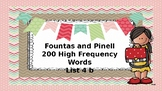 200 Fountas and Pinnill High Frequency Word Lists 4 and 5