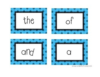 200 Fry Flash Cards - Blue