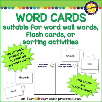 200 HIGH FREQUENCY WORD CARDS
