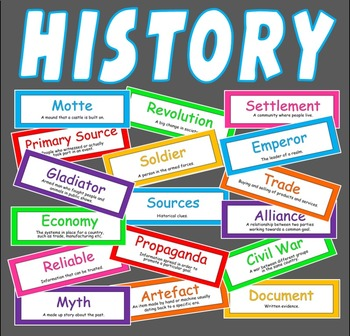 200 HISTORY FLASH CARDS TEACHING RESOURCE CLASSROOM DISPLAY key stage 2 3 4
