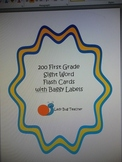 200+ First Grade Sight Word Flash Card System