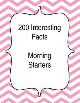 200 Interesting Facts - Morning warm up