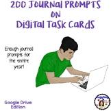 200 Journal Prompts on Digital Task Cards (Google Drive Edition)