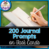 200 Journal Prompts on Task Cards (Aligned with the CCSS)
