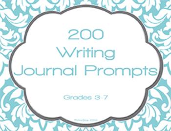 200 Journal Writing Prompt Task Cards