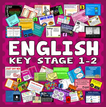 200 KEY STAGE 1-2 ENGLISH ACTIVITIES GAMES STARTERS read write speak