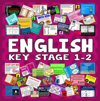 200 KEY STAGE 1-2 ENGLISH ACTIVITIES GAMES STARTERS read write speak