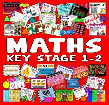 200 KEY STAGE 1-2 MATHS 1st-6th GRADE ACTIVITIES GAMES WORKSHEETS