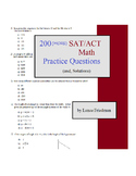 200 (MORE) SAT/ACT Math Questions