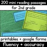 200 Mini Reading Fluency Passages - 2nd Grade - 50ish Word