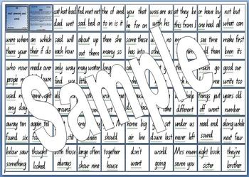 200 Most Commonly Used Words - Word Wall Resource