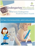 200 Page Full Workbook What every kindergartner should kno