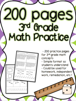 200 Pages of 3rd Grade Math Practice