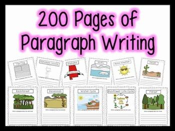 200+ Paragraphs for Centers, Homework, Morning Work {1st, 2nd & 3rd Grade}
