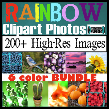 200+ Photos Bundle RAINBOW COLORS High-Res Commercial Clip Art