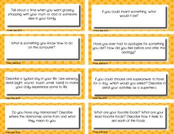 200 Polka Dot Journal Writing Prompt Task Cards
