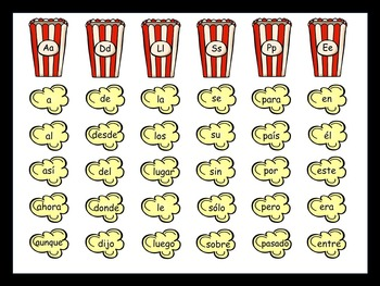 200 Popcorn Sight Words In Spanish! {Editable Version}