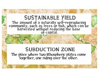 200+ Premade Geography Terms for Word Wall + Blank Strips to Make Your Own